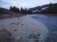 Yellowstone Club wastewater pouring into Gallatin River tributary