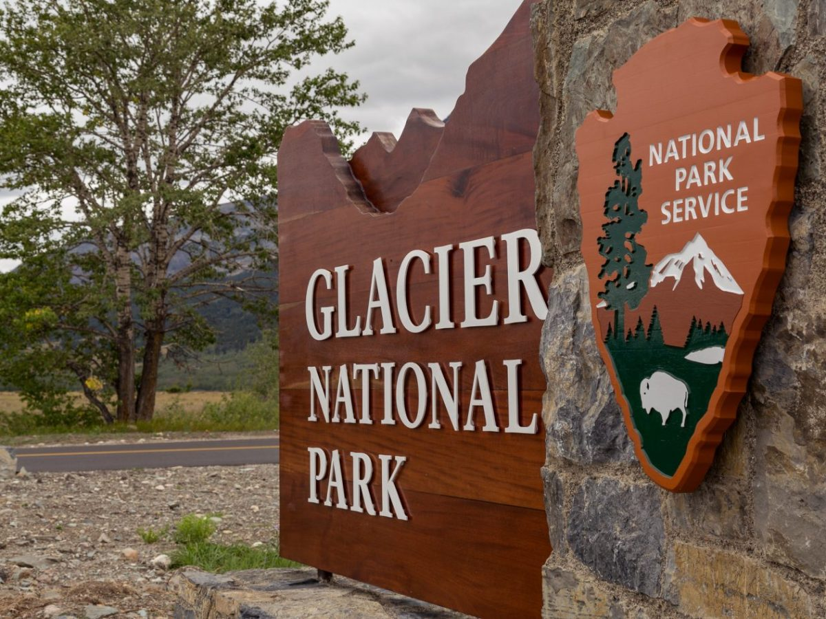 Glacier eastern entrance Blackfeet