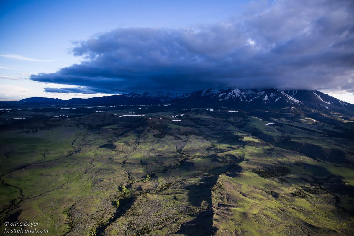 Montana Crazy Mountains aerial