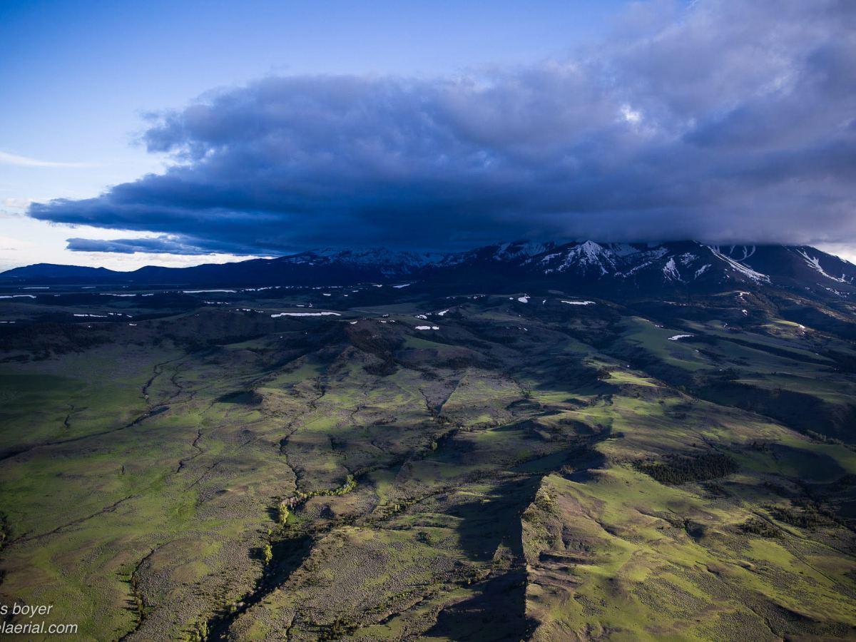 Montana Crazy Mountains aerial