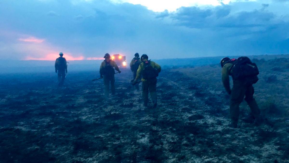 Montana BLM fire crew